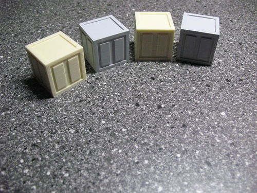 4er Set Sci-Fi Box,Transportbox 30x30x30 mm für 6 inch Figuren